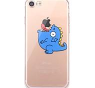 Случай для iphone 7 6 играя с яблоком логотип tpu мультфильм мягкая ультратонкая задняя крышка чехол iphone 7 плюс 6 6s плюс se 5s 5 5c 4s