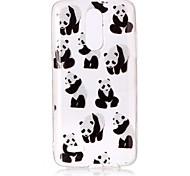 Чехол для lg k10 (2017) k8 (2017) чехол для кейса panda образец высокая проницаемость tpu материал imd технология флеш-накопитель телефон