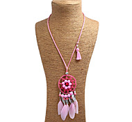 Жен. Ожерелья-бархатки Ожерелья с подвесками Заявление ожерелья Геометрической формыСплав Металлический сплав Блестящий металл Сетчатый