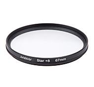Andoer 67mm filter set uv cpl star 8-точечный набор фильтров с футляром для камеры canon nikon sony dslr