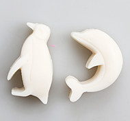 Dolphin And Penguin Fondant Mold DIY Silicone Soap Candle Mold Handmade Soap Salt Carved DIY Silicone Food Grade Silicone Mold