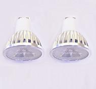 3W Точечное LED освещение MR16 3 Высокомощный LED 260-300 lm Тёплый белый Белый Диммируемая AC 220-240 V 2 шт.