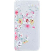 For HTC Desire 626 Case Cover Transparent Pattern Back Cover Case Cherry Blossom Soft TPU Case