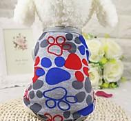Собака Футболка Жилет Одежда для собак На каждый день Мода геометрический Серый Синий