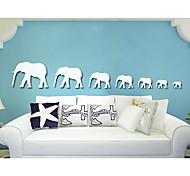 Животные абстракция 3D Наклейки Простые наклейки 3D наклейки Зеркальные стикеры Декоративные наклейки на стены 3D,Акрил материалУкрашение