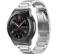 For Samsung Galaxy S2 20mm Three Bead Smart Watch Strap Stainless Steel Sport Band Watch