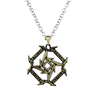 Lureme Punk Jewelry Metallica Band Signs Geometry Pendnat Necklace