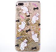 Case for apple iphone 7 7 plus case cover cat pattern мягкая сторона бриллиантовая шарик флеш-память флэш-память телефона для iphone 6s 6