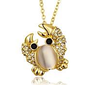 Women's Pendant Necklaces Crystal Cubic Zirconia Imitation Opal Geometric Animal ShapeRose Gold Zircon Gem Copper Silver Plated Gold