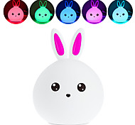 BRELONG Lovely Rabbit Colorful Silicone LED Night Light - BLUE/Pink