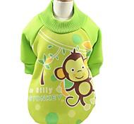 Собака Плащи Футболка Толстовка Одежда для собак Для вечеринки На каждый день Спорт Мода ЖивотныеКоричневый Зеленый Синий Розовый