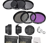 Andoer 49mm Lens Filter Kit UV CPL FLD ND(ND2 ND4 ND8)