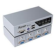 VGA USB 2.0 PS2 Переключения, VGA USB 2.0 PS2 to VGA USB Type B Переключения Female - Female 1080P