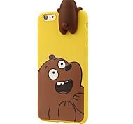 Футляр для iphone 7 плюс 7 3d мультфильм животные милые мы голые медведи мягкие силиконовые чехлы покрытие кожи 6 плюс 6