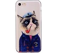 Случай для яблока iphone 7 7 плюс крышка случая кота картина tpu материал imd корабль случай мобильного телефона для iphone 6 6s 6 плюс 6s