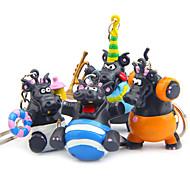 4pcs мешок / телефон / брелок шарм diy мультфильм игрушка пвх металл