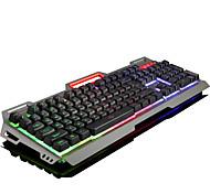 Ruyiniao v-10 металлическая игровая клавиатура с подсветкой 104 ключа USB-кабель