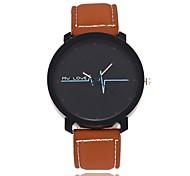 Муж. Модные часы Китайский Кварцевый Кожа Группа Повседневная Черный Коричневый