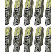 10pcs t10 3014 24smd w5w 24led индикаторная лампа индикаторная лампа автомобильная светодиодная подсветка номерного знака dc12v