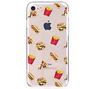 Случай для яблока iphone 7 7 плюс крышка случая hamburge картина высокий прозрачный материал tpu царапать случай телефона для iphone 6s 6