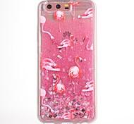 Чехол для huawei p10 p10 plus чехол чехол фламинго патч tpu материал капля флэш-порошок поток песок мобильный телефон чехол для huawei
