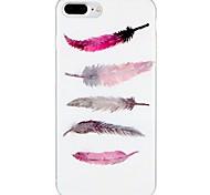 Случай для яблока iphone 7 плюс iphone 7 крышка картины задняя крышка случая перья мягкая tpu для iphone 6s плюс iphone 6 плюс iphone 6s