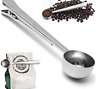 универсальная ложка с мешком запечатывания зажима нержавеющей измерительный инструмент кофе совок чашка земля кухня для приготовления пищи