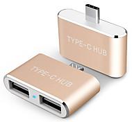 USB 2.0 Адаптер, USB 2.0 to USB 2.0 Тип C Адаптер Male - Female