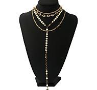Жен. Ожерелья с подвесками Ожерелья-цепочки Сплав Мода По заказу покупателя Rock Бижутерия Назначение Свидание Для улицы Для клуба