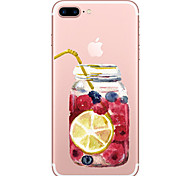 Для яблока iphone 7 7 плюс футляр для бутылок с футляром для бутылок с рисунком высокого проникновения Материал корпуса мягкий чехол для