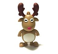 1gb рождество usb флэш-накопитель мультфильм рождественский олень рождественский подарок usb 2.0