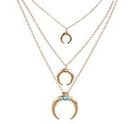Муж. Жен. Ожерелья с подвесками Multi-камень Геометрической формы Рог Изумрудный Pоскошные ювелирные изделия Винтаж Бижутерия Назначение