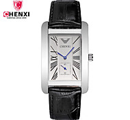 CHENXI® Муж. Нарядные часы Модные часы Китайский Кварцевый Кожа Группа Cool Повседневная Черный Коричневый