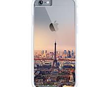 Назначение iPhone 7 iPhone 7 Plus Чехлы панели Ультратонкий Прозрачный С узором Задняя крышка Кейс для Эйфелева башня Вид на город Мягкий