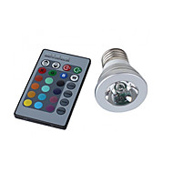 E27 3W 150LM RGB Light LED Spot pære (110-240)