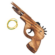 Classical Rubber Band Launcher Wooden Pistol Gun (Toy)