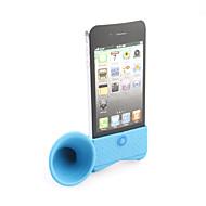 Loudspeaker Horn Stand Holder for iphone 4(blue)