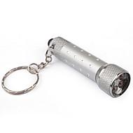 alumiini 5 LED-avaimenperä valo - hopea