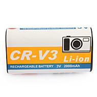 2000mAh batteri RCR-V3 för CASIO GV-20, Kodak CX-serien och mer