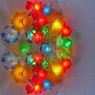 4M 2.5W 20-LED Colorful Light Flower Design String Fairy Lamp (110/220V)