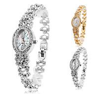 Women's Alloy Analog Quartz Bracelet Elliptic Case Watch (Assorted Colors)