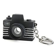camera sleutelhanger met led zaklamp en geluidseffecten (willekeurige kleur)