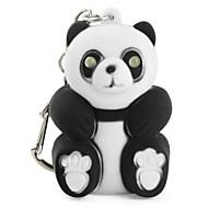 panda klíčenka s baterkou pod vedením a zvukových efektů (black)