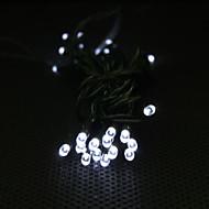 movido a energia solar 3m 30-led de luz branca de 2 modos lâmpada LED String