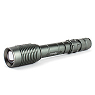 LED Flashlights / Handheld Flashlights LED 5 Mode 1600 Lumens Cree XM-L T6 18650 Uniquefire , Grey Aluminum alloy