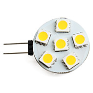 G4 0.5 W 6 SMD 5050 40 LM Warm White Spot Lights DC 12 V