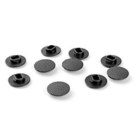 joystick caps di ricambio per psp 1000 (10-pack, nero)