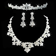 Jewelry Set Women's Anniversary / Wedding / Engagement / Birthday / Gift / Party Jewelry Sets Alloy RhinestoneNecklaces / Earrings /