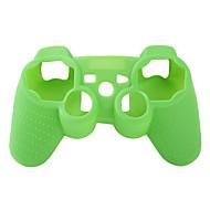 La funda de silicona protectora para el controlador de PS3 (verde)