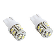 T10 10x1210 SMD White LED for Car Signal Lamps (2-Pack, DC 12V)